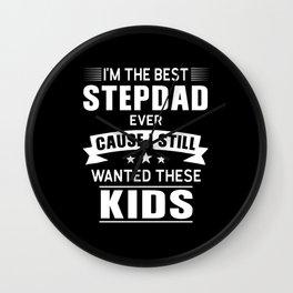 Stepdad Step Dad Gift Wall Clock