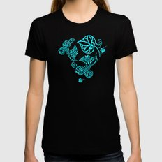 The Fans Black Womens Fitted Tee SMALL