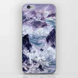 Monet : Storm At Belle Ile iPhone Skin