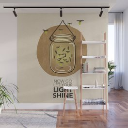 Let Your Light Shine Wall Mural