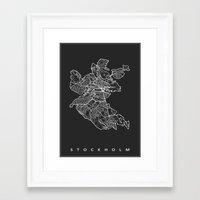 stockholm Framed Art Prints featuring STOCKHOLM by Nicksman
