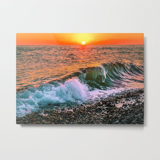 Sunset splash Metal Print