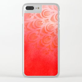 Feathering Red Clear iPhone Case