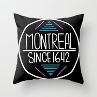 montreal Throw Pillows featuring Montreal by Aurelie