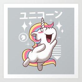 Kawaii Unicorn Art Print