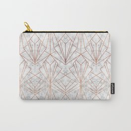 Art Deco Marble & Copper Carry-All Pouch
