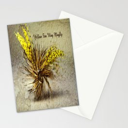 Yellow Fan Wing Mayfly Stationery Cards