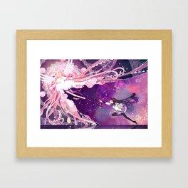 goodbye for just a little bit Framed Art Print