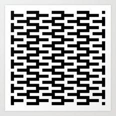 Black & White Zigzag Art Print
