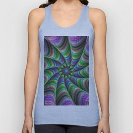 Striped tentacles Unisex Tank Top