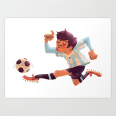 Lionel Messi, Argentina Jersey Art Print