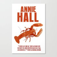 annie hall Canvas Prints featuring Annie Hall by FunnyFaceArt