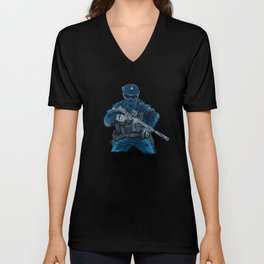 Special Forces tactical weapons armed forces Unisex V-Neck