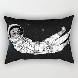 André Floating Around in Otter Space Rectangular Pillow