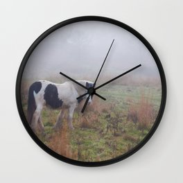 Black and White Horse Wall Clock