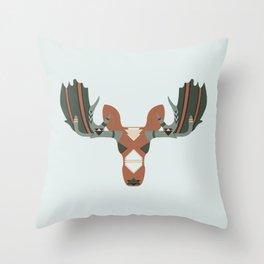 Moose Spirit Throw Pillow