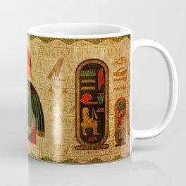 Egyptian Horus Ornament on Papyrus Coffee Mug
