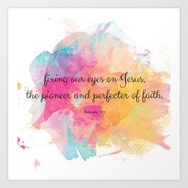 Perfecter of Faith, Scripture Tote Bag Art Print