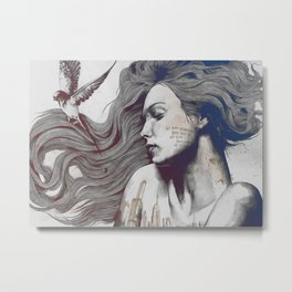 Monument rb | sleeping beauty woman portrait Metal Print