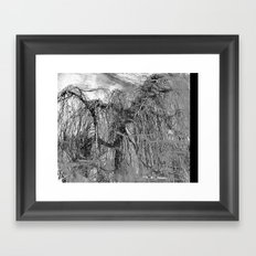 RELAX... It's Just A (Black&White) MINDfuck! Framed Art Print