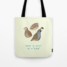 Quail of a Time Tote Bag
