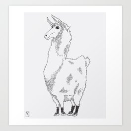 Llama needs a new pair of shoes... Art Print