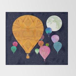 Hot Air Balloons Throw Blanket