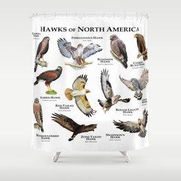 Hawks of North America Shower Curtain
