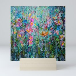 Mid July Meadow Flowers - #2 Painting by Olena Art Mini Art Print