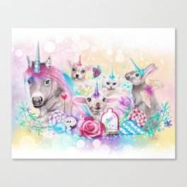 We All Just Want to be Unicorns Canvas Print