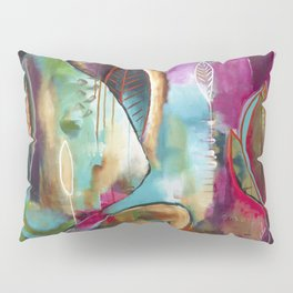 """Held and Healed"" Original Painting by Flora Bowley Pillow Sham"