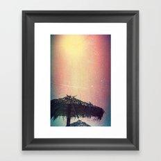 Burnt Beach Framed Art Print