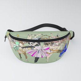 Animal Ballet Hipsters - Green Fanny Pack