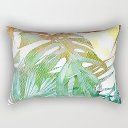 tropical and abstract tropical painting pattern Rectangular Pillow