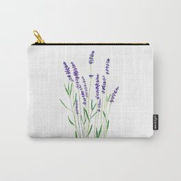 purple lavender watercolor painting Carry-All Pouch