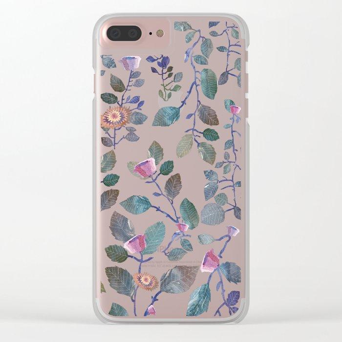 pink garden#pink Clear iPhone Case