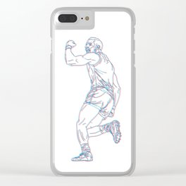 Heart of a Champion Clear iPhone Case