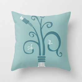 bloominate Throw Pillow