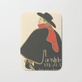 Bruant in his cabaret retro vintage Bath Mat