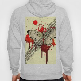 SURREAL BLEEDING VAMPIRE BUTTERFLY ROADKILL Hoody
