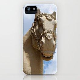 Stone Horse Head 1 iPhone Case