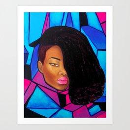 Cool - Afro Natural Hair Art Art Print