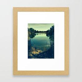 reflecting portal Framed Art Print