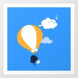 In-flight incident Art Print