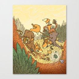 Brain Fox Canvas Print