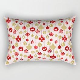 Holly Jolly Festive Balls Rectangular Pillow