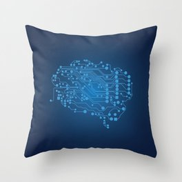 Electric brain Throw Pillow