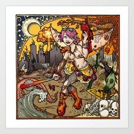 Chaos & Entropy Fairy (Nude) Art Print