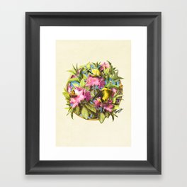 Flowers and Birds 1 Framed Art Print