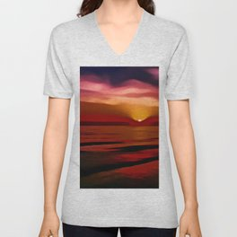 Graceful (Digital Art) Unisex V-Neck